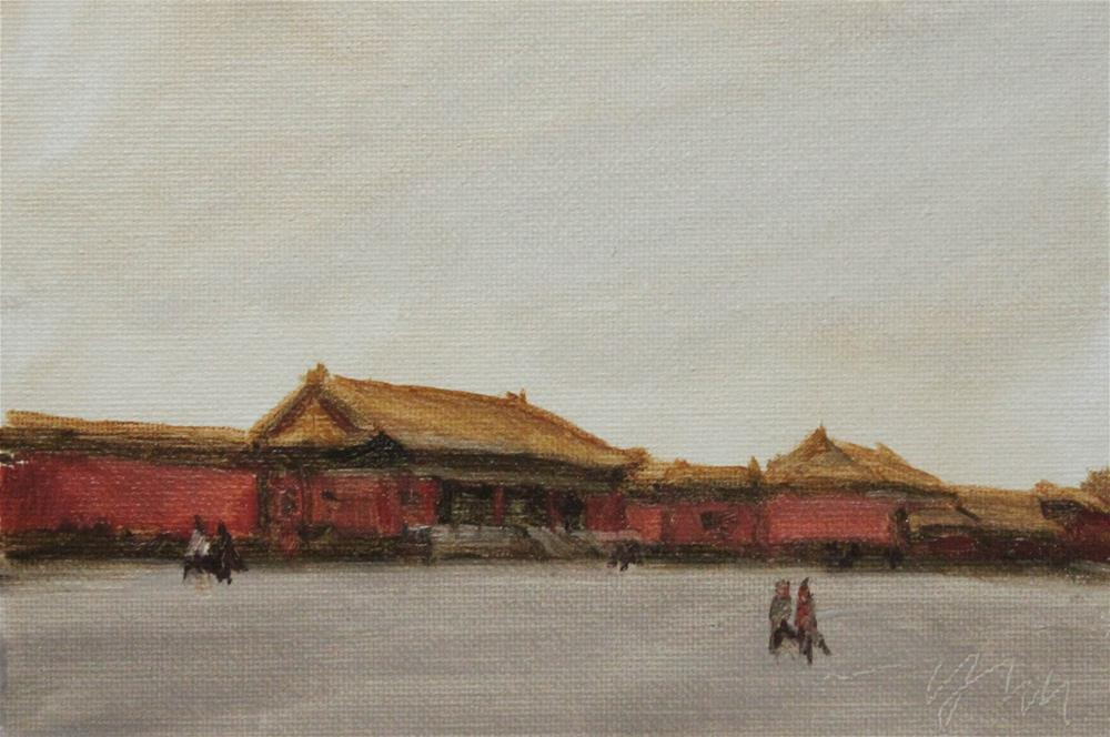 """beijing"" original fine art by Yuehua He"