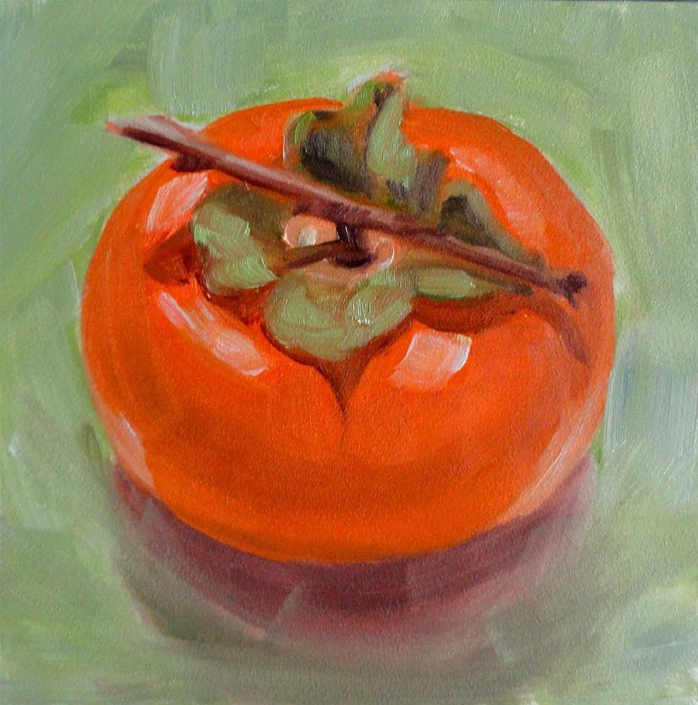 """Persimmon"" original fine art by Cietha Wilson"