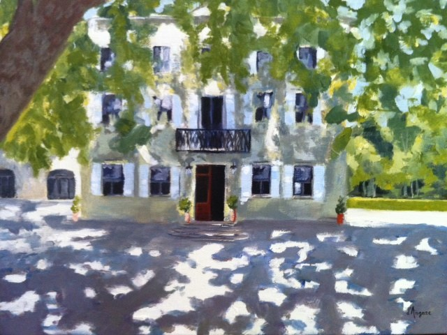 """Chateau des Alpilles in St. Remy"" original fine art by Karen D'angeac Mihm"