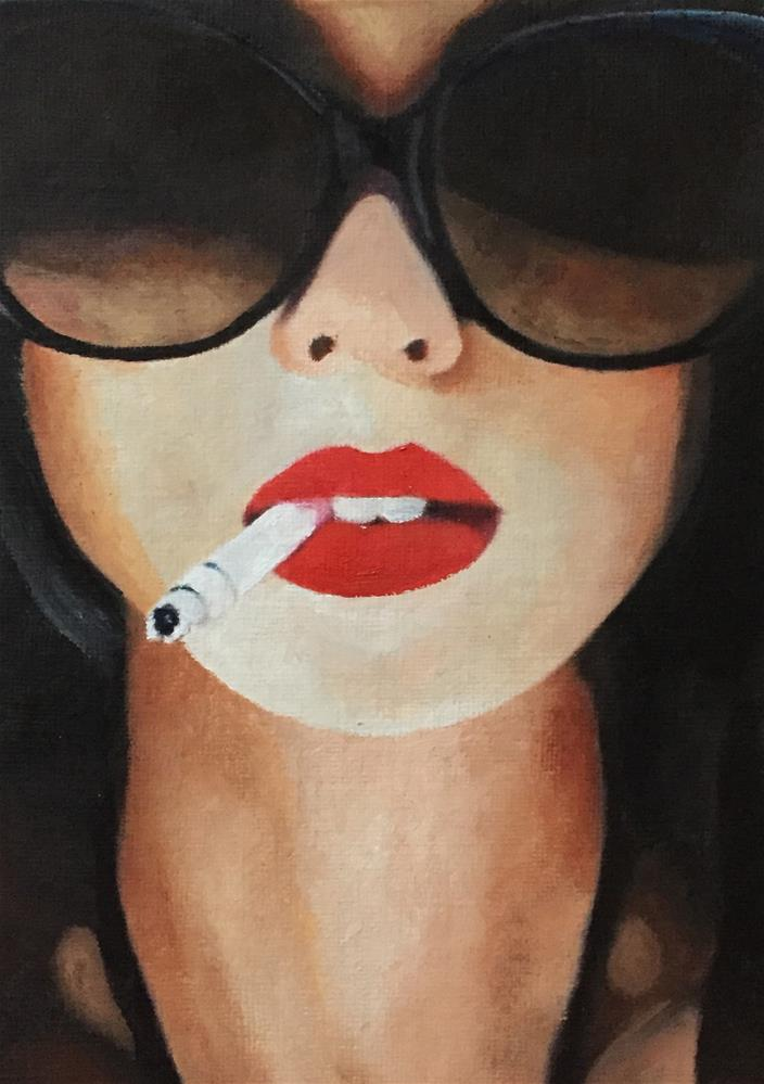 """Hot Lips"" original fine art by John Cameron"