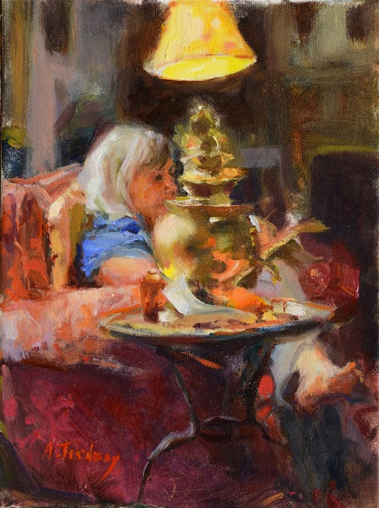 """""""Marci In Her Living Room"""" original fine art by alicia tredway"""