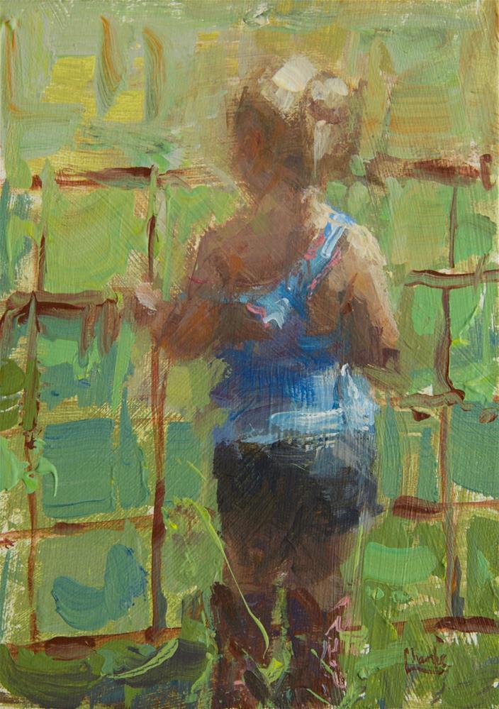 """Outside the Fence"" original fine art by Chantel Barber"
