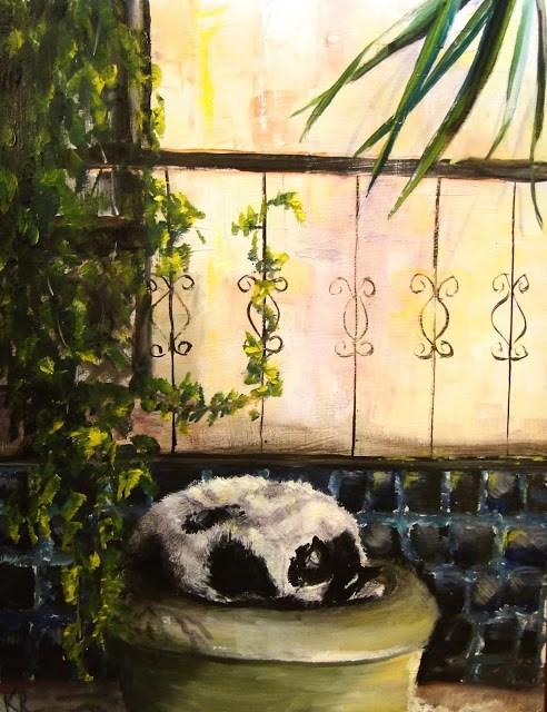 """""""Dappled Light"""" original fine art by Karen Robinson"""