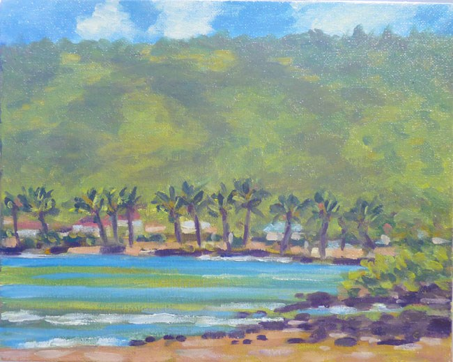 """Manini Beach"" original fine art by Stan Chraminski"