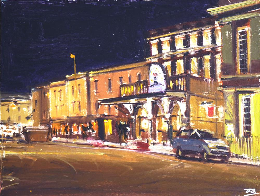 """Theatre Royal Nocturne, Bath"" original fine art by Adebanji Alade"