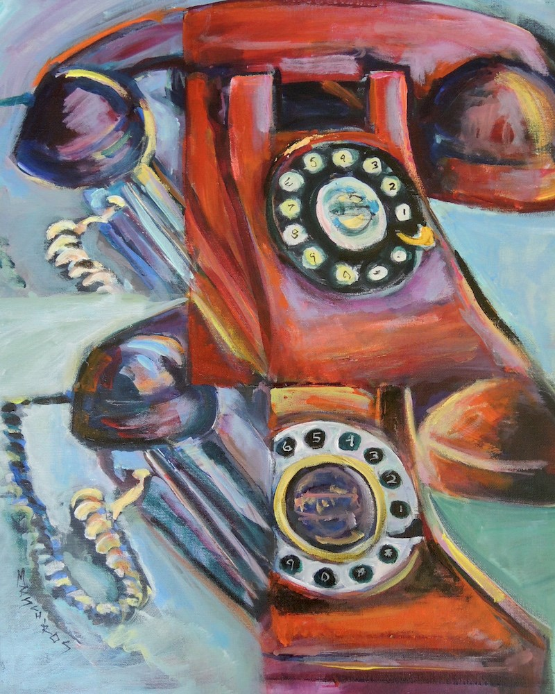 """Hot Line"" original fine art by Mary Schiros"