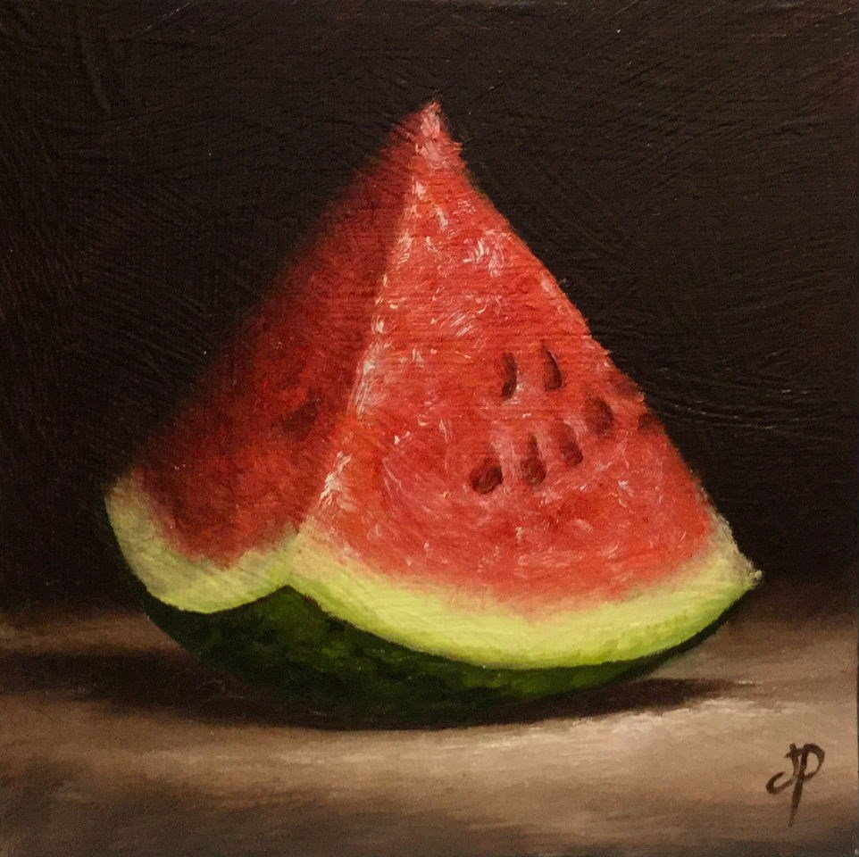"""Watermelon"" original fine art by Jane Palmer"