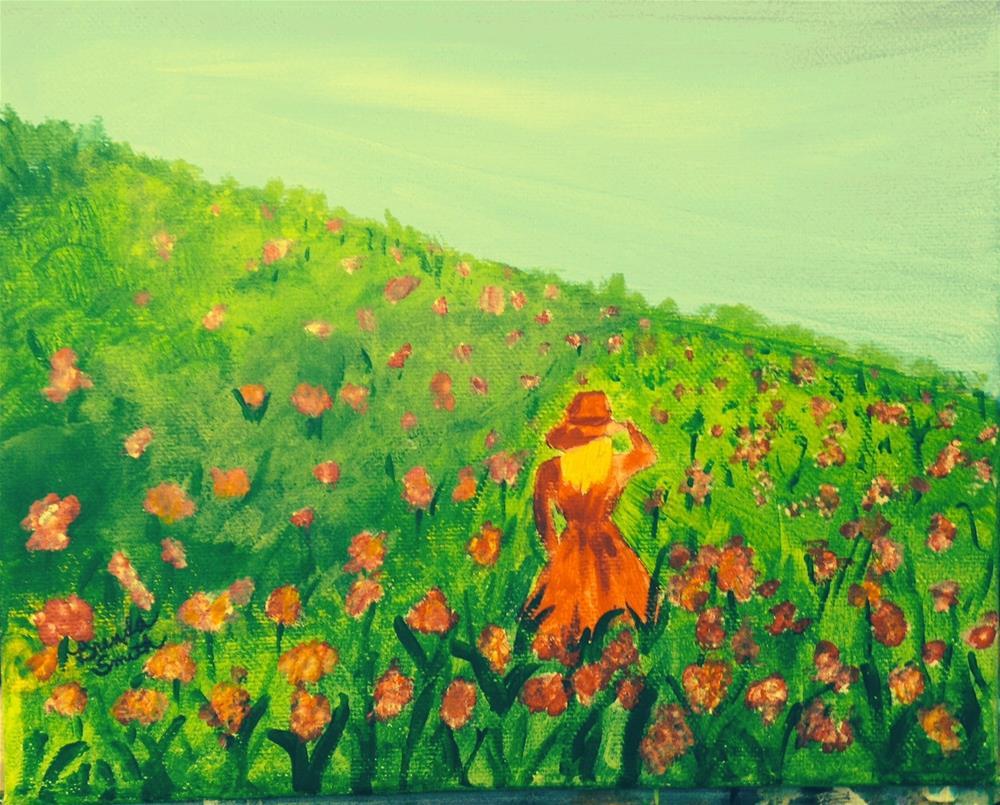 """Poppy Field"" original fine art by Brenda Smith"