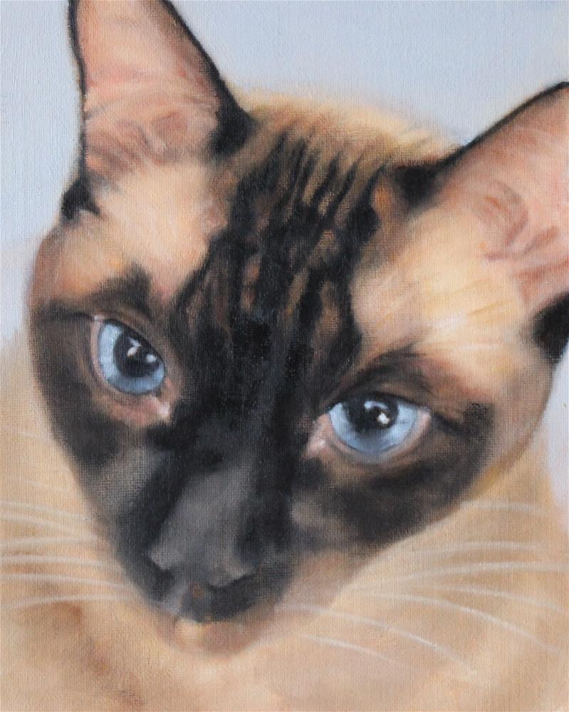 """""""Frankie"""" original fine art by Joan Carroll"""