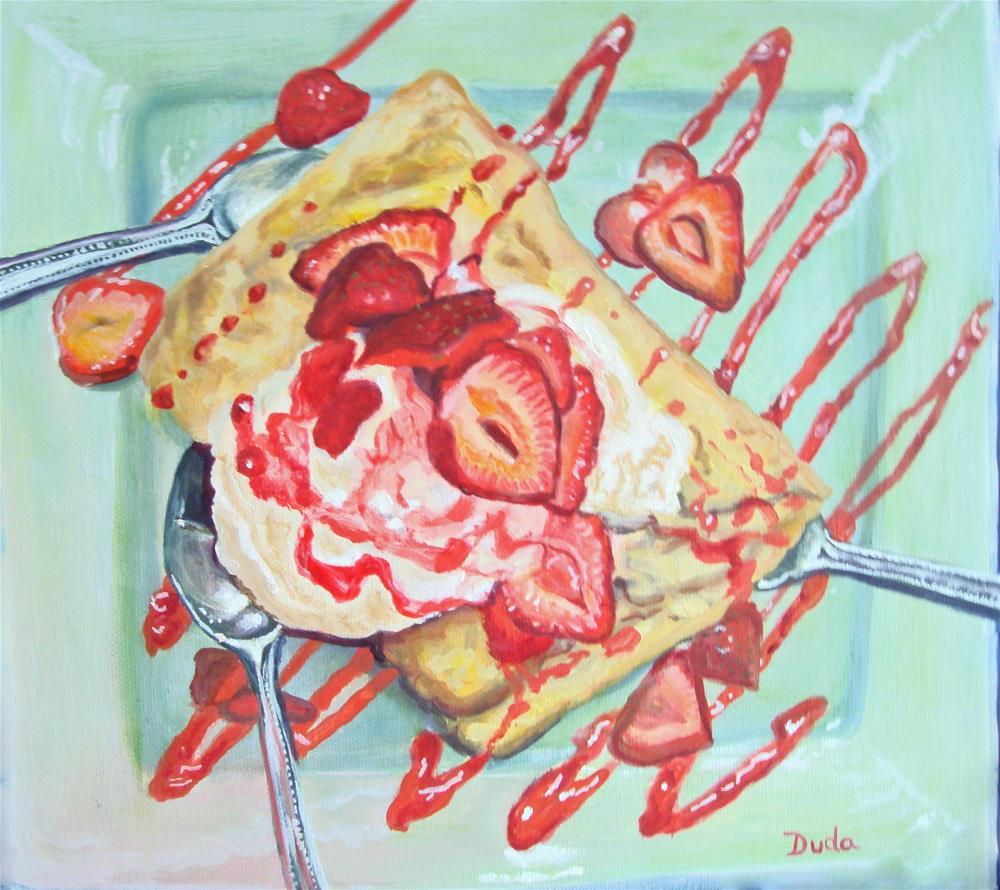 """""""Dessert Divided by Three"""" original fine art by Susan Duda"""