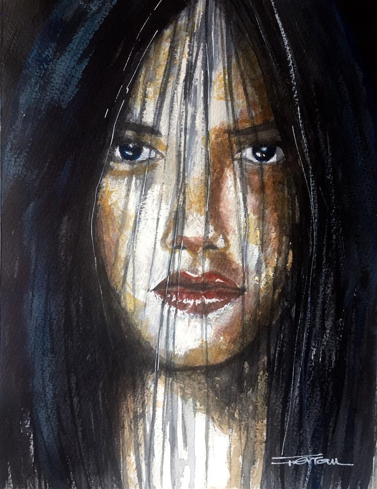 """""""UNDERGROUND GIRL"""" original fine art by Ferran Llagostera"""