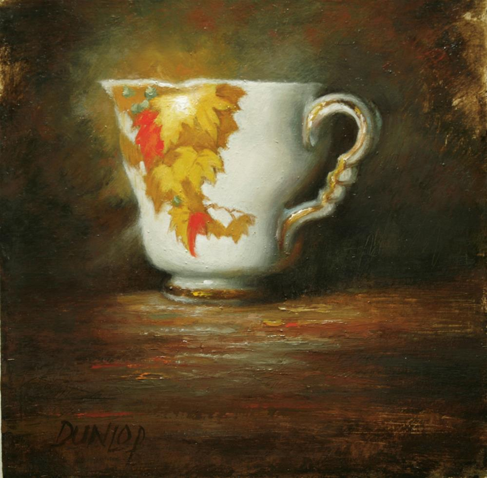 """Teacup #4"" original fine art by Bobbi Dunlop"