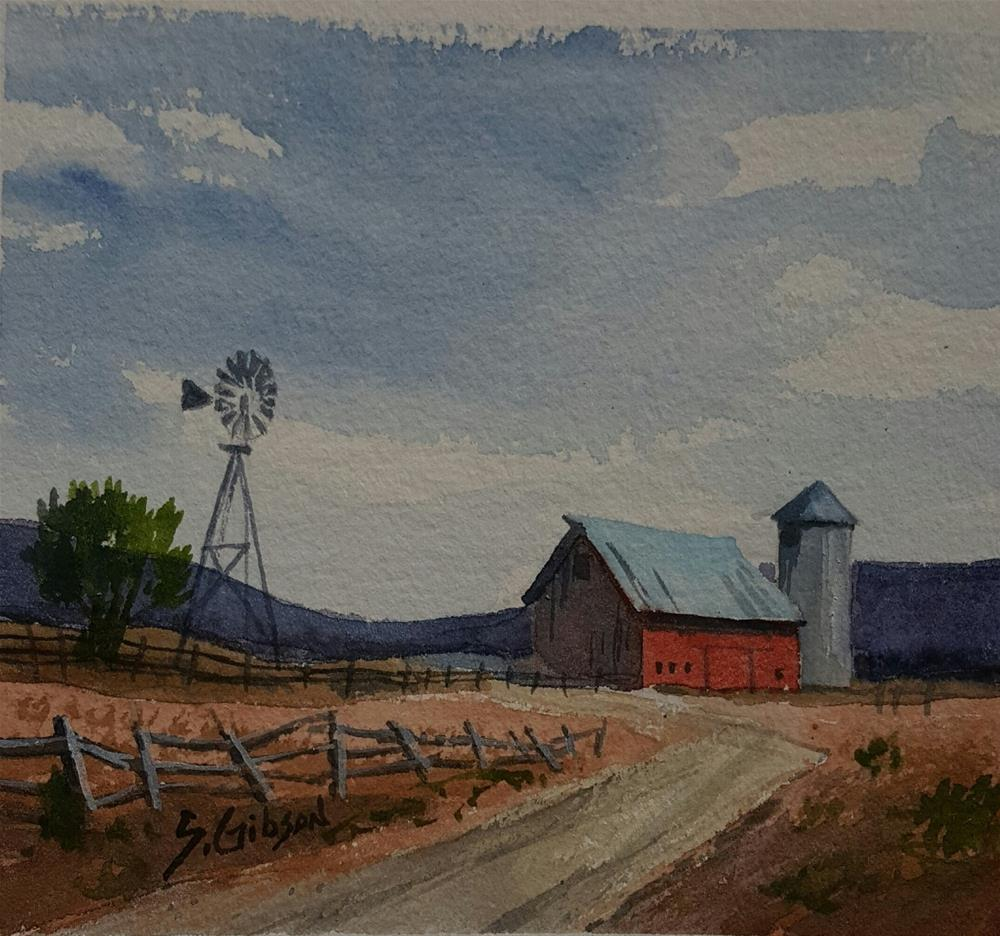 """The Hunter Wright Farm"" original fine art by Steve Gibson"