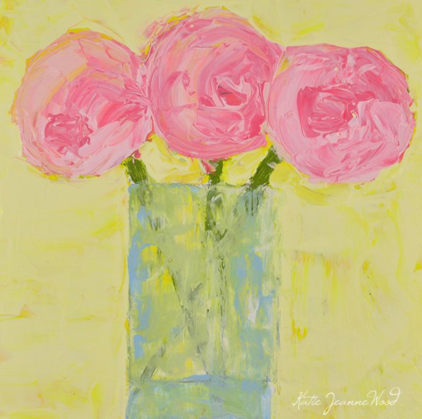 """Floral No 302"" original fine art by Katie Jeanne Wood"