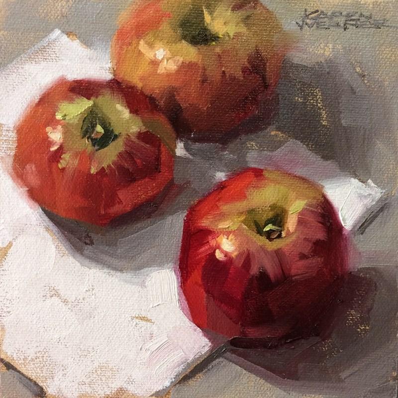 """""""Winesaps"""" original fine art by Karen Werner"""