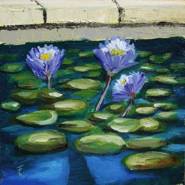 """""""WaterGarden"""" original fine art by Jane Frederick"""