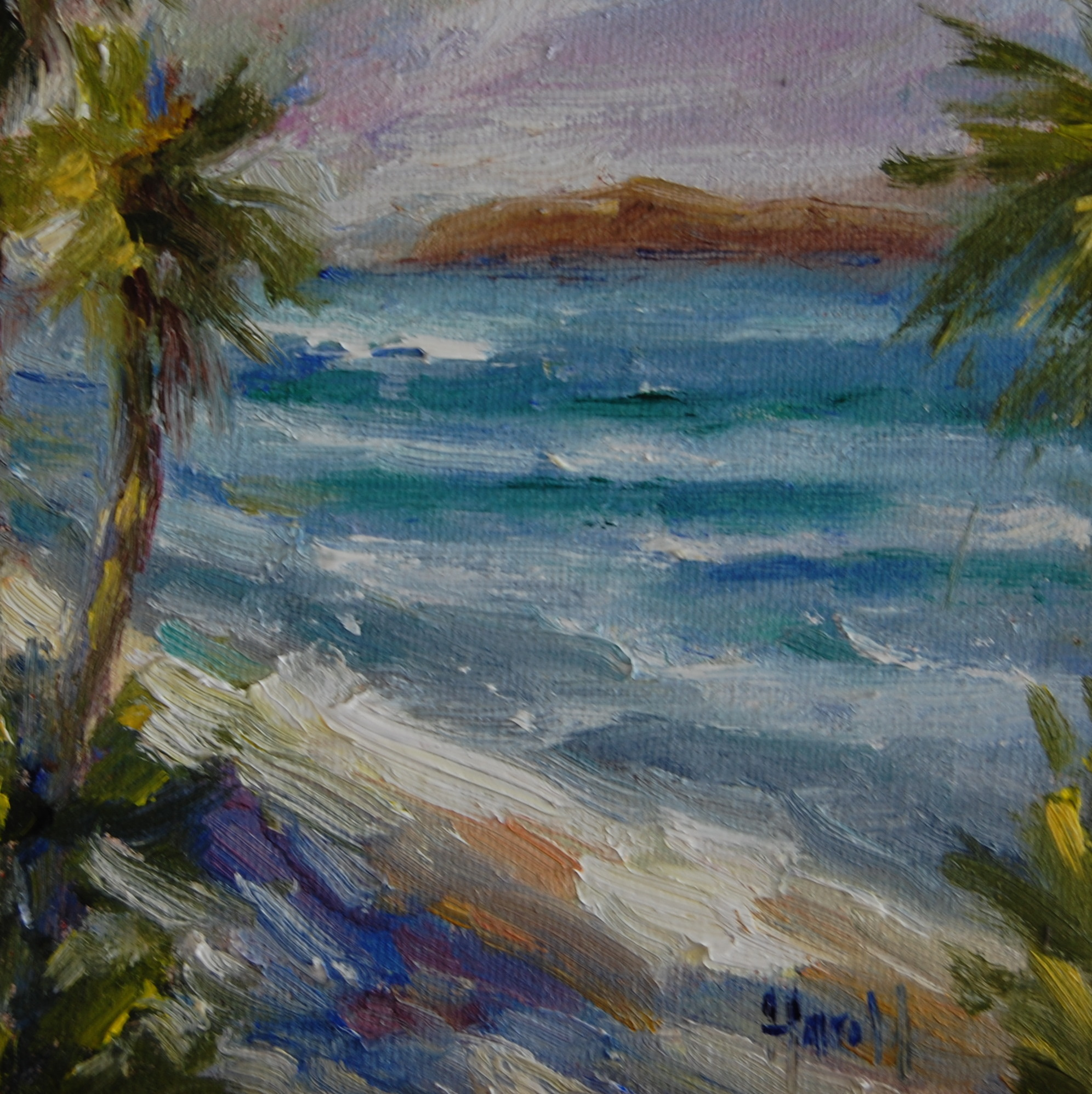 """On the Beach"" original fine art by Deborah Harold"