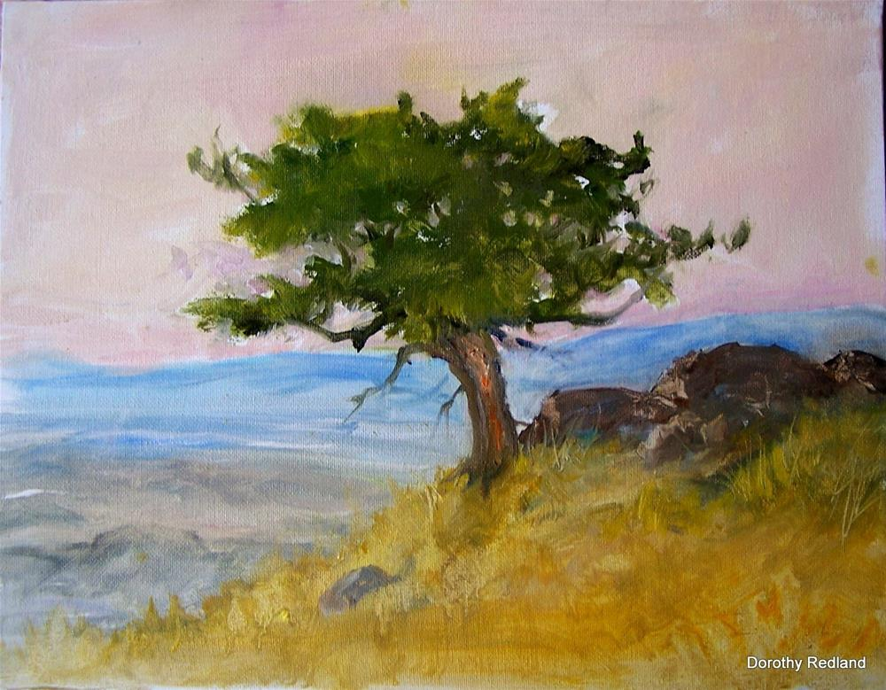 """On a high and windy hill"" original fine art by Dorothy Redland"