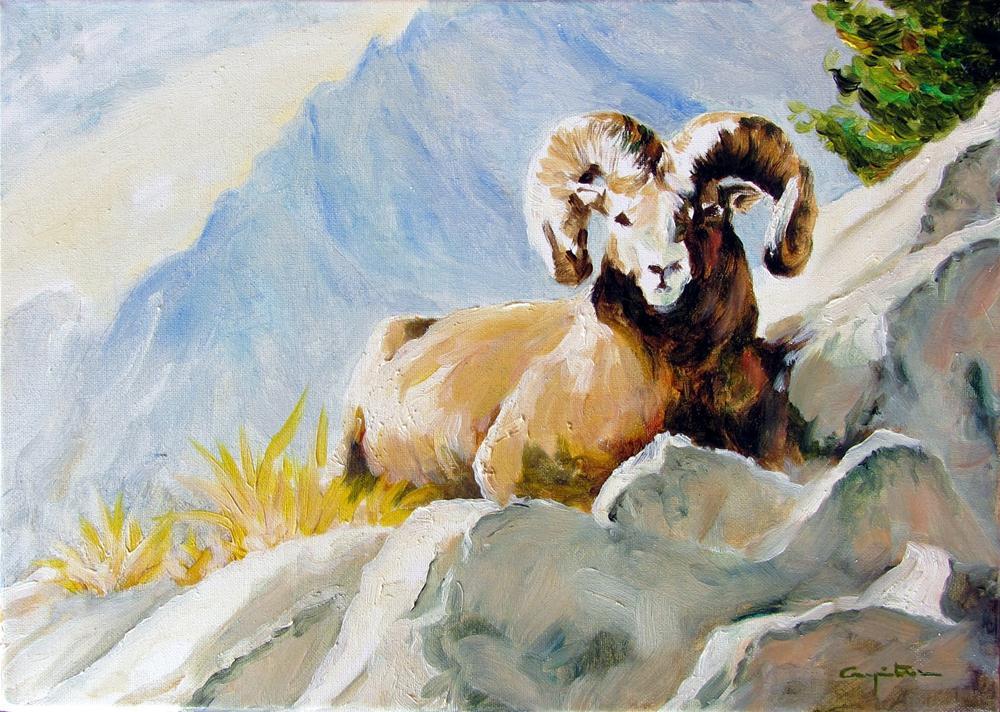 """Tomando el sol"" original fine art by Eduardo Carpintero"