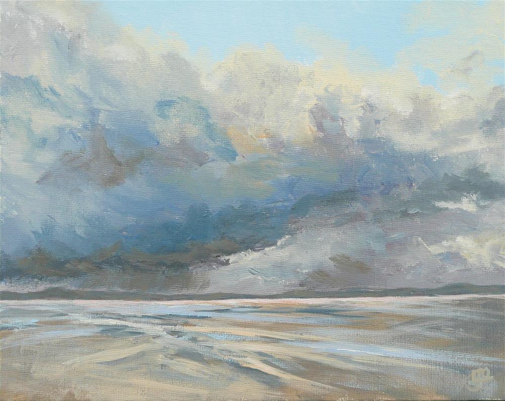 """Winter At Long Beach"" original fine art by Leanne Owen"