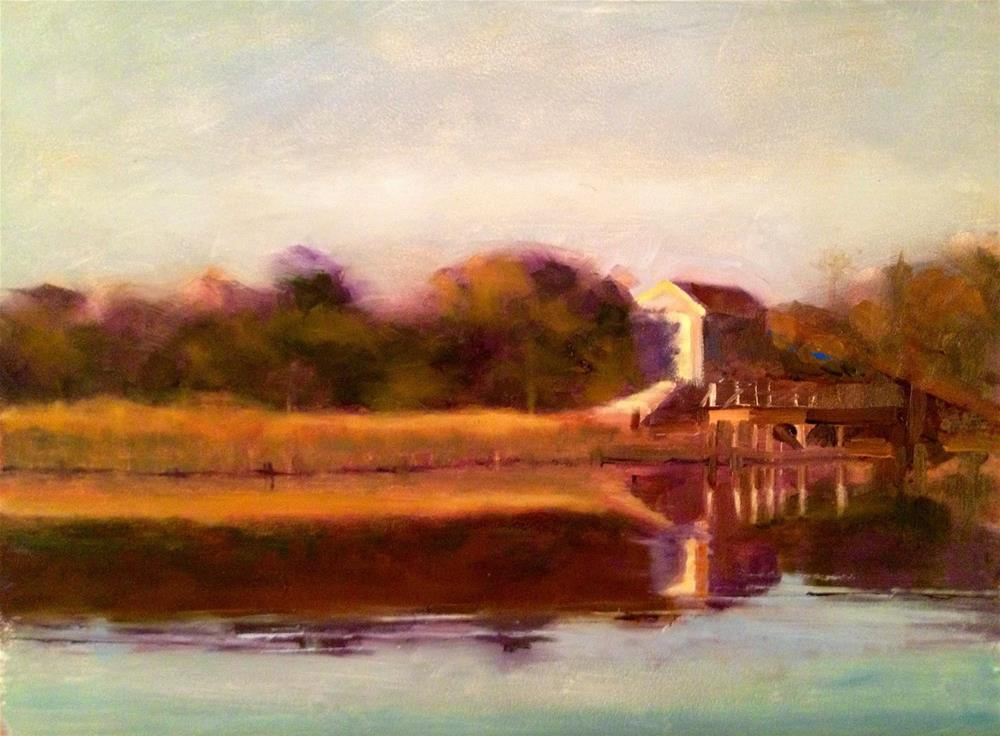 """Afternoon Sun, Nantucket"" original fine art by Ann Feldman"