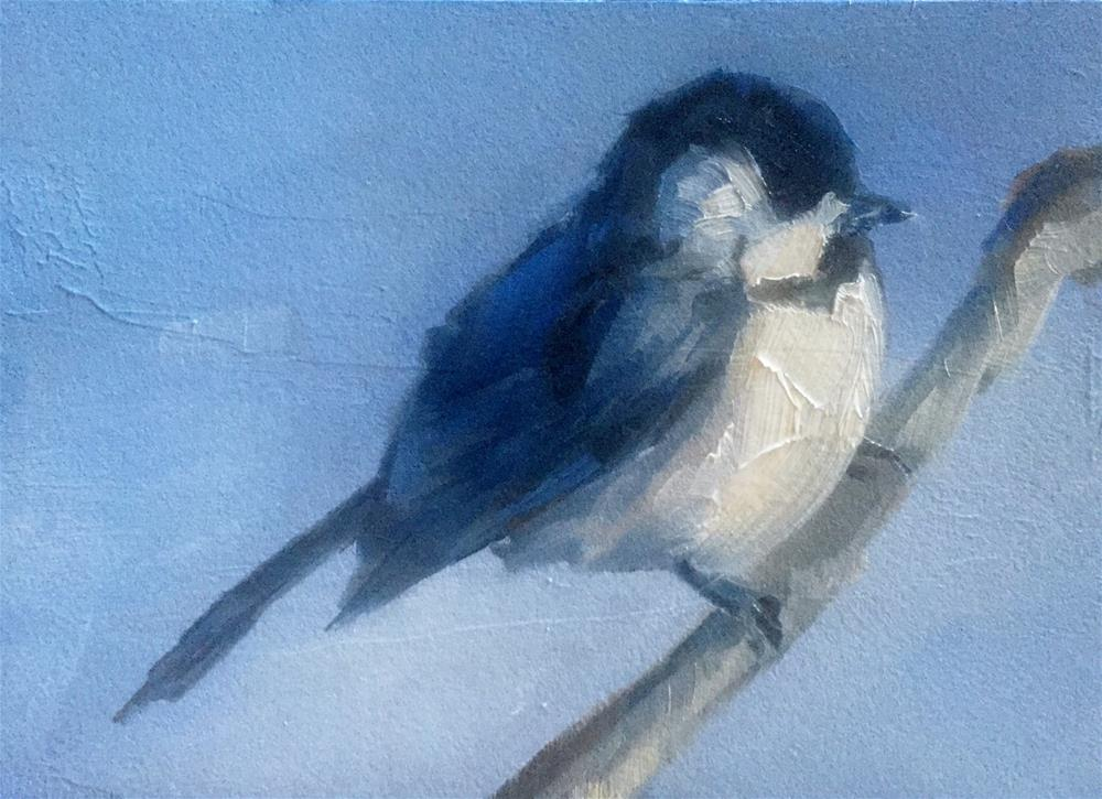 """Cool Blue Chickadee"" original fine art by Gary Bruton"