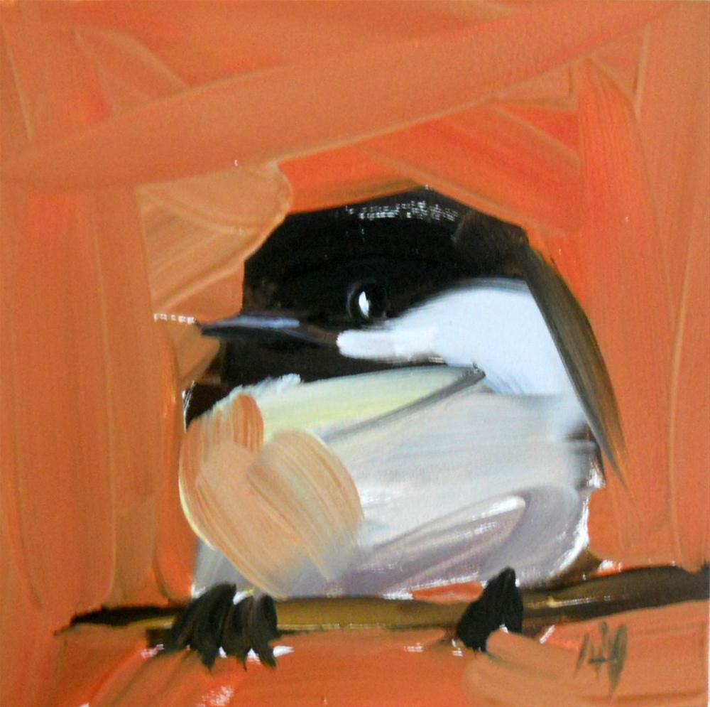 chickadee no. 76 original fine art by Angela Moulton