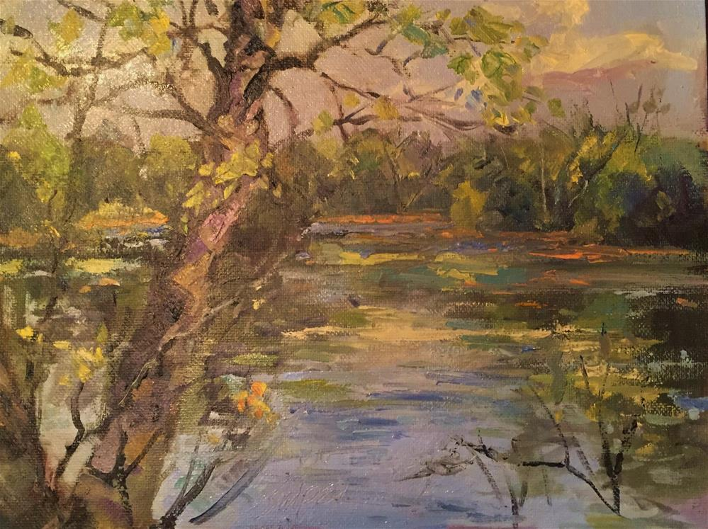 """Early Fall Afternoon"" original fine art by Connie Snipes"