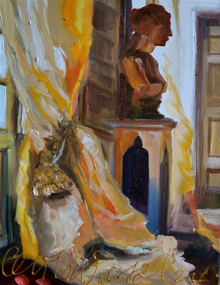 """""""LA STATUE"""" original fine art by Cecilia Rosslee"""