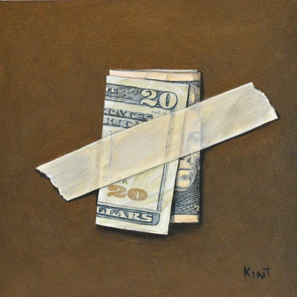 """Twenty Dollar Bill"" original fine art by Kim Testone"
