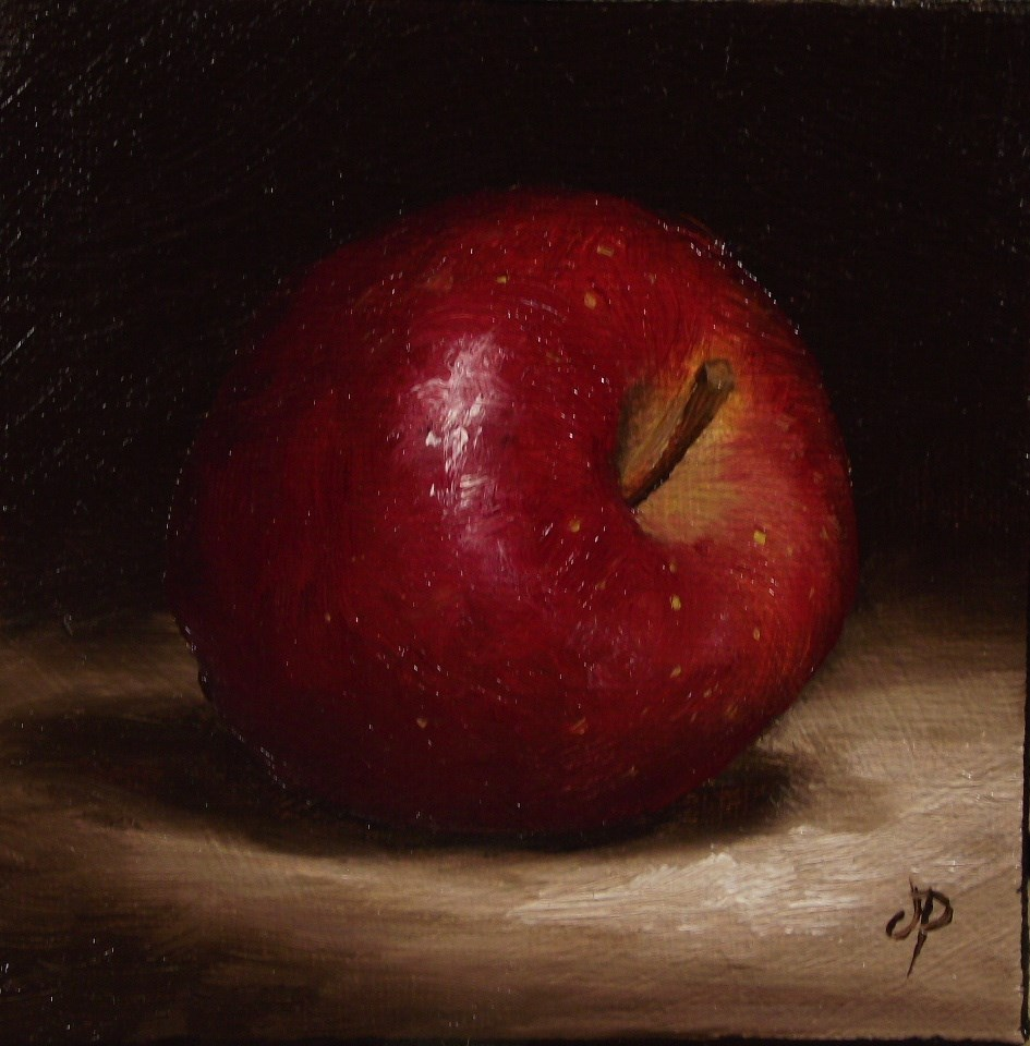 """Little Red Delicious Apple"" original fine art by Jane Palmer"