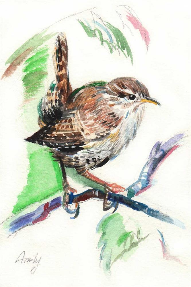 """Eurasian Wren Bird"" original fine art by Anna  Fine Art"