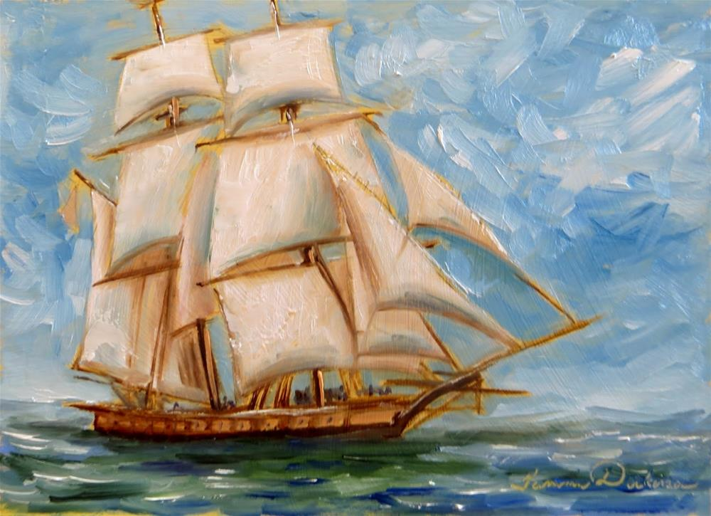 """Sailing the Ocean Blue"" original fine art by Tammie Dickerson"