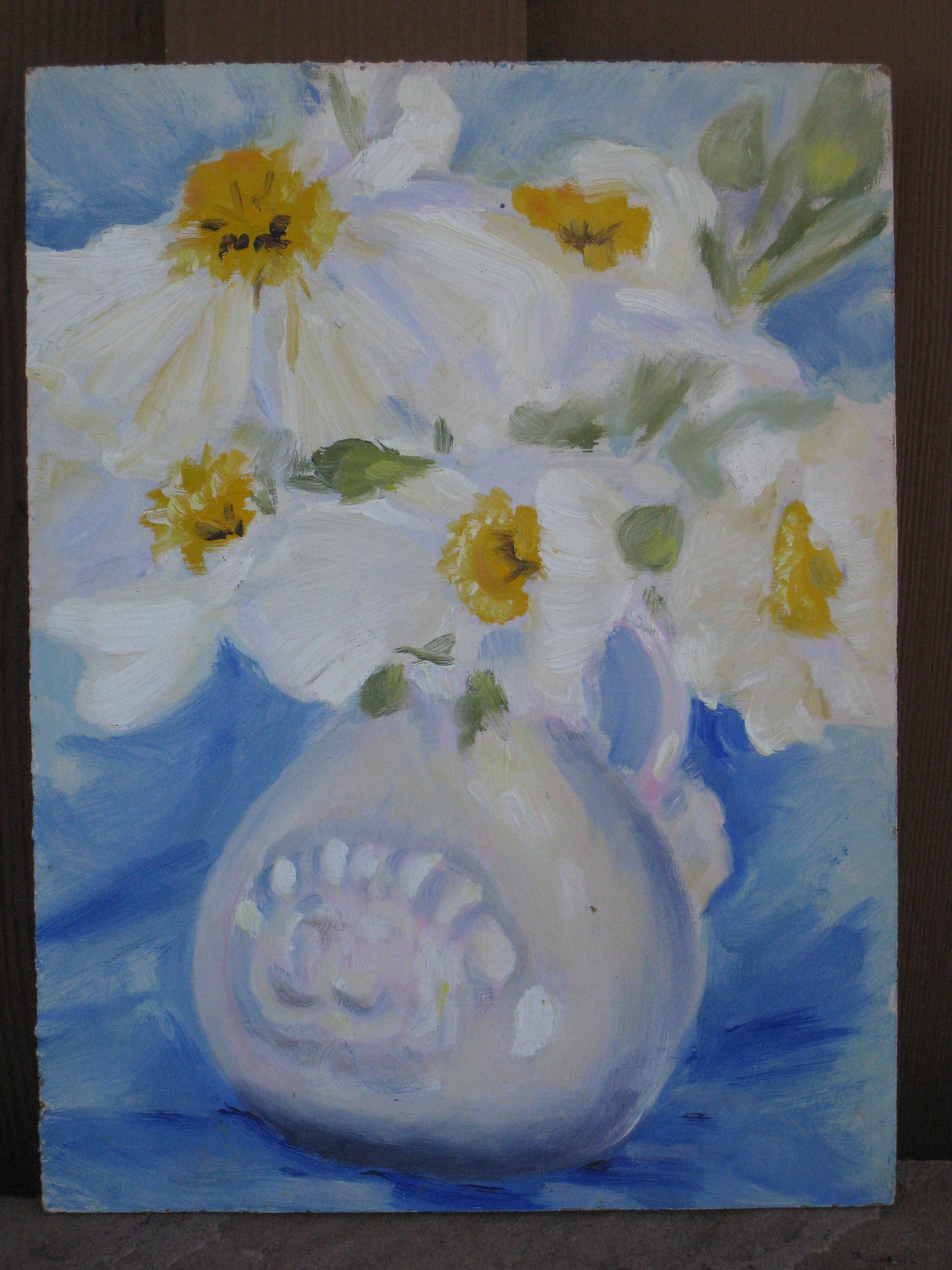 """poppies"" original fine art by Leigh Alexandra Sparks"