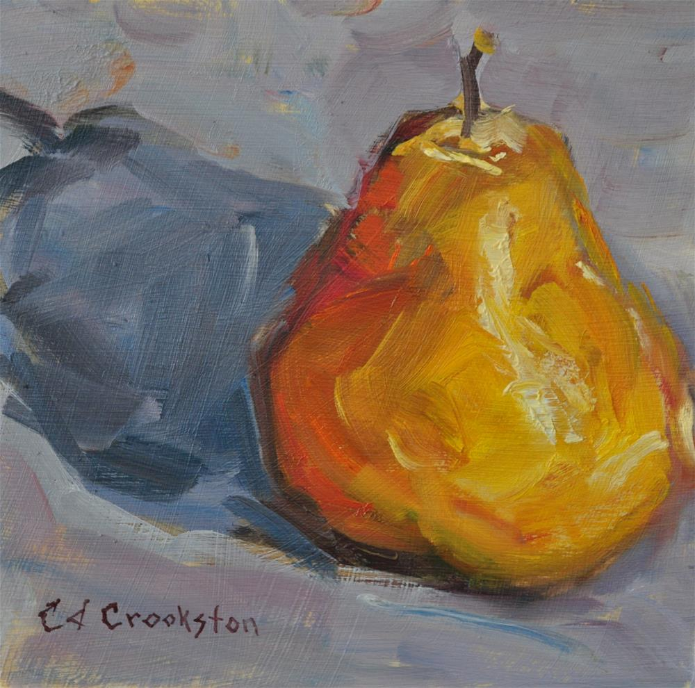 """The Golden Pear"" original fine art by Catherine Crookston"