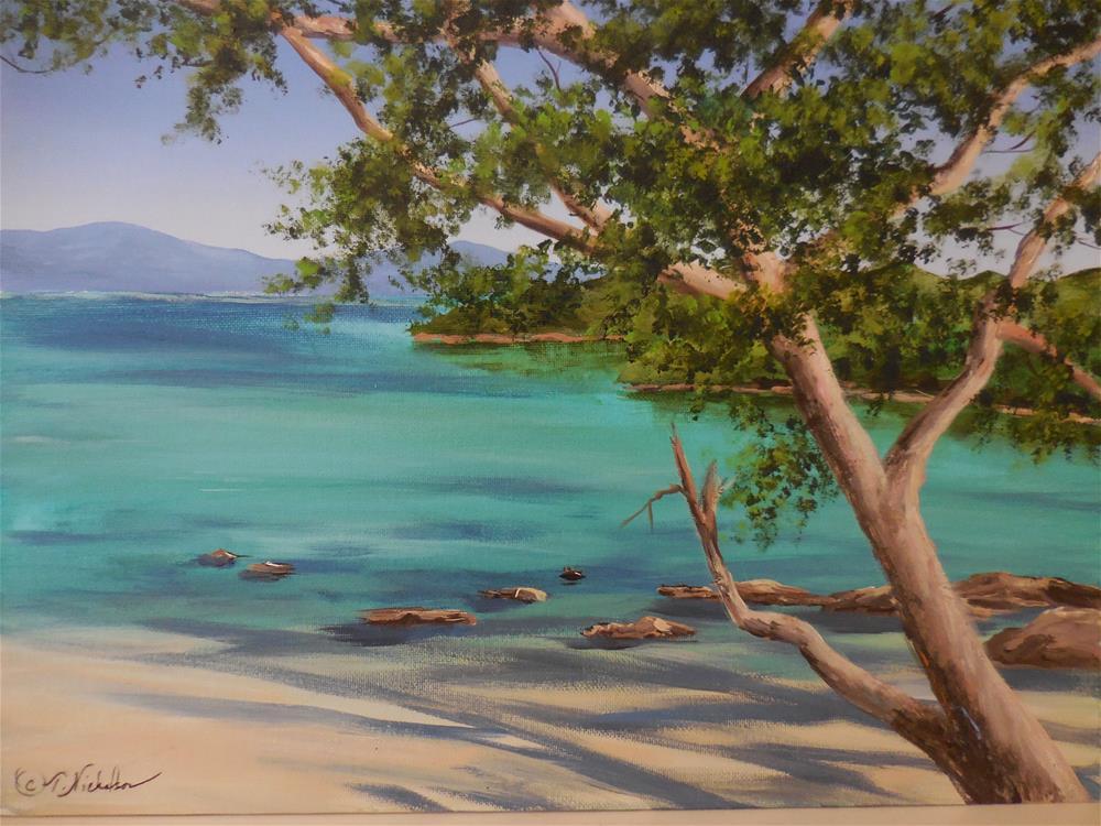 """Island Paradise"" original fine art by Terri Nicholson"