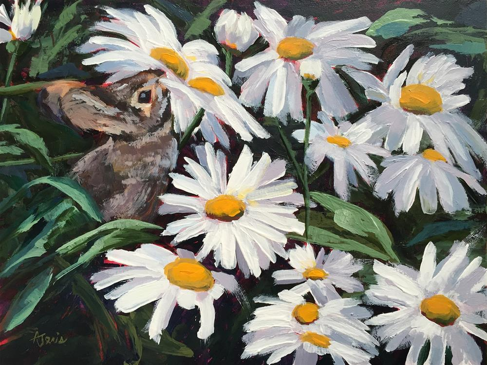 """Eating Daisies"" original fine art by Andrea Jeris"