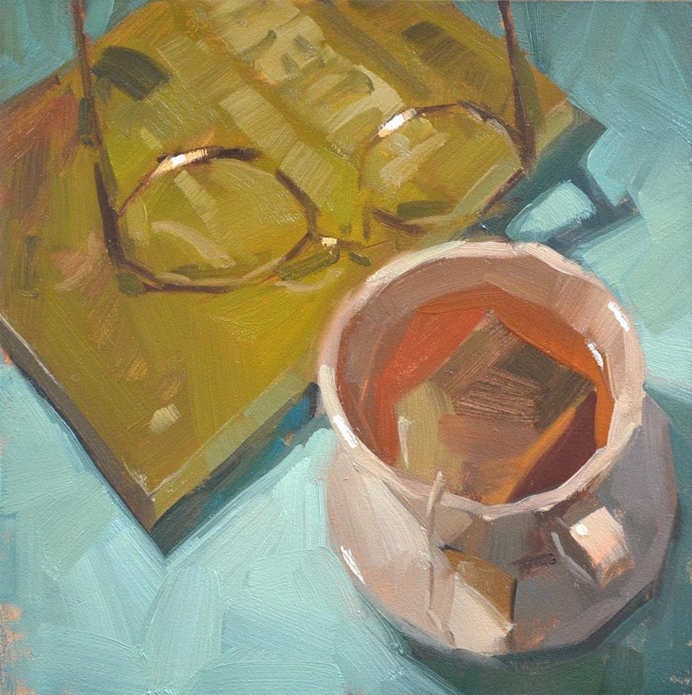 """""""Tea For Me"""" original fine art by Carol Marine"""