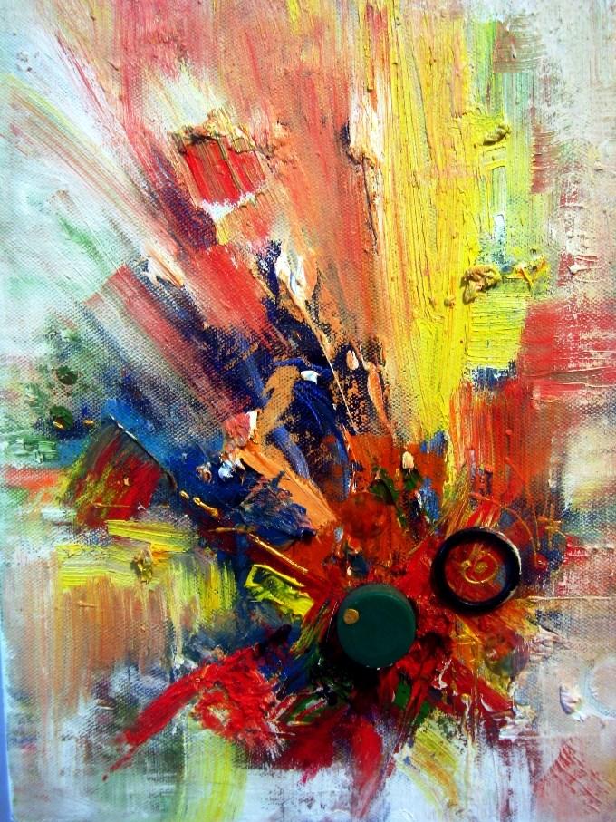 """African Drum Beats"" original fine art by Adebanji Alade"