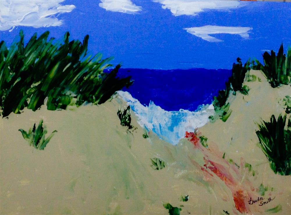 """Peeking at Lake Michigan"" original fine art by Brenda Smith"
