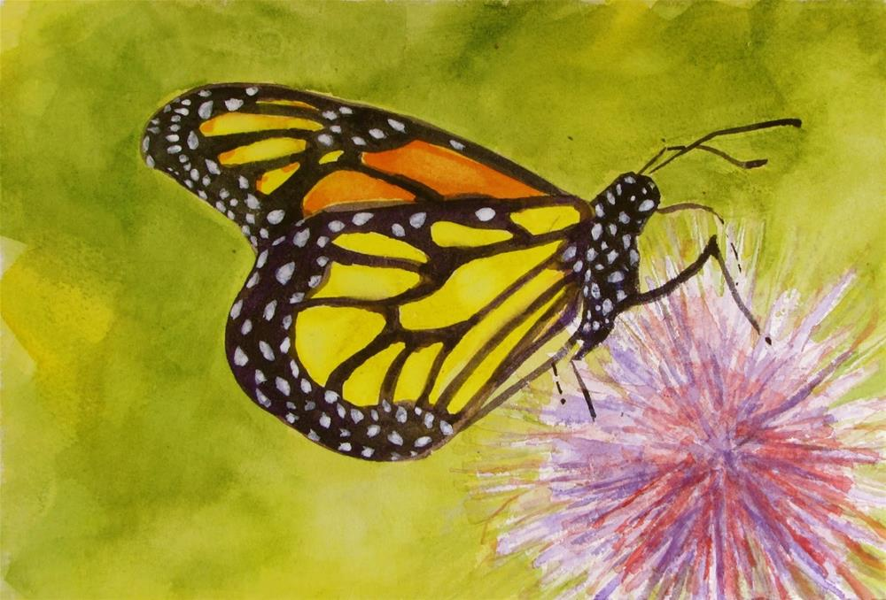 """Monarch#2"" original fine art by Christine Holzschuh"
