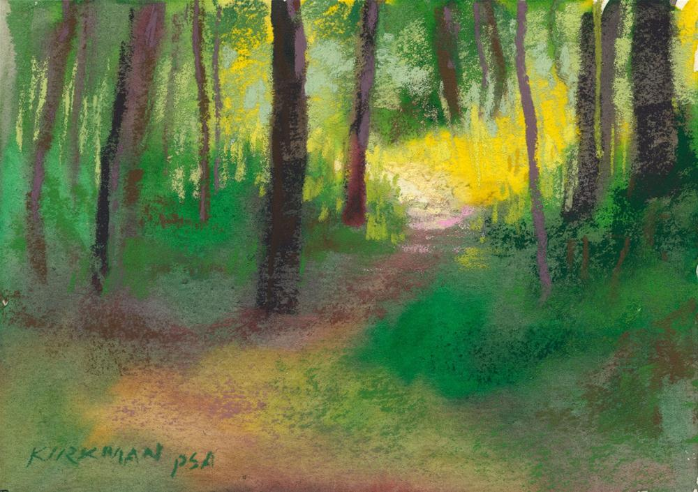 """Park Trail #19"" original fine art by Rita Kirkman"