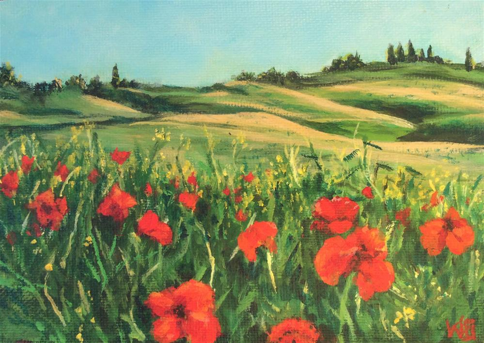 """Poppy Fields"" original fine art by wendy black"