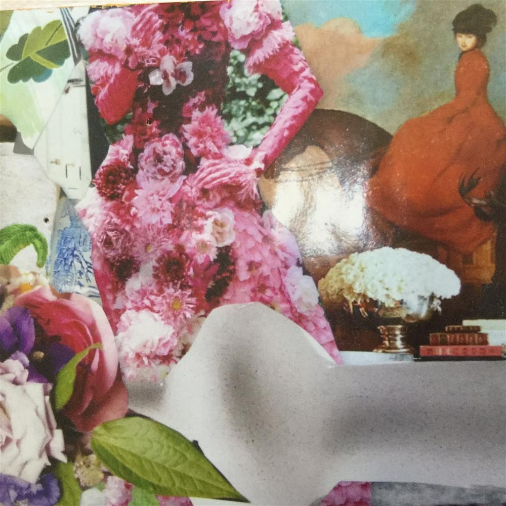 """Lilacs and ladies"" original fine art by pamela kish"