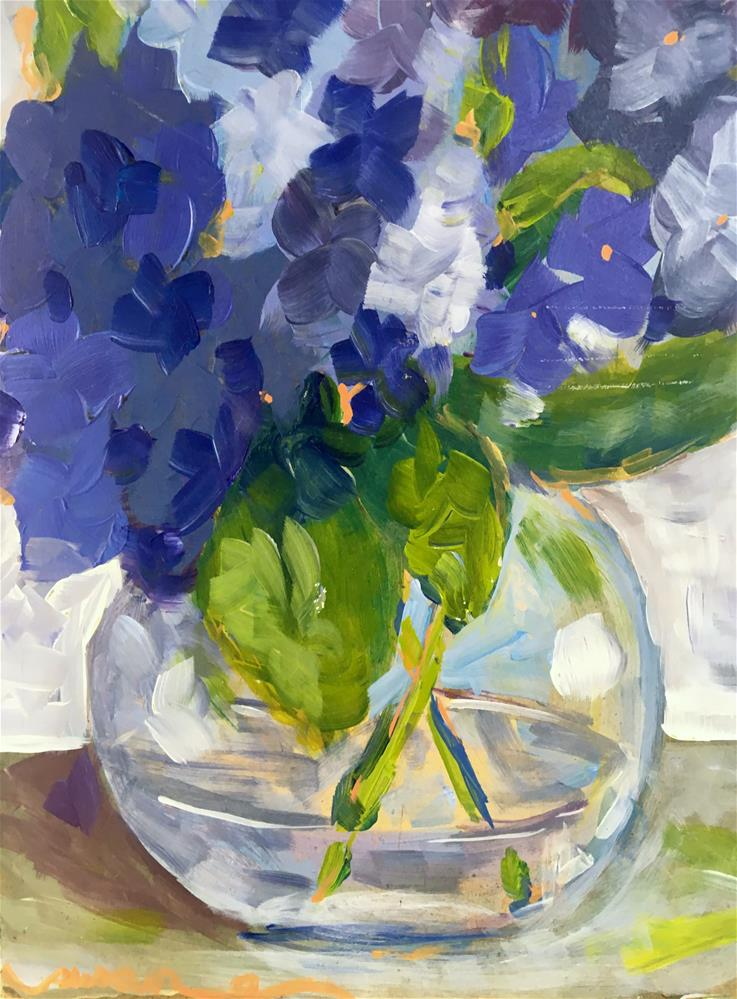 """Violets"" original fine art by Susan Elizabeth Jones"