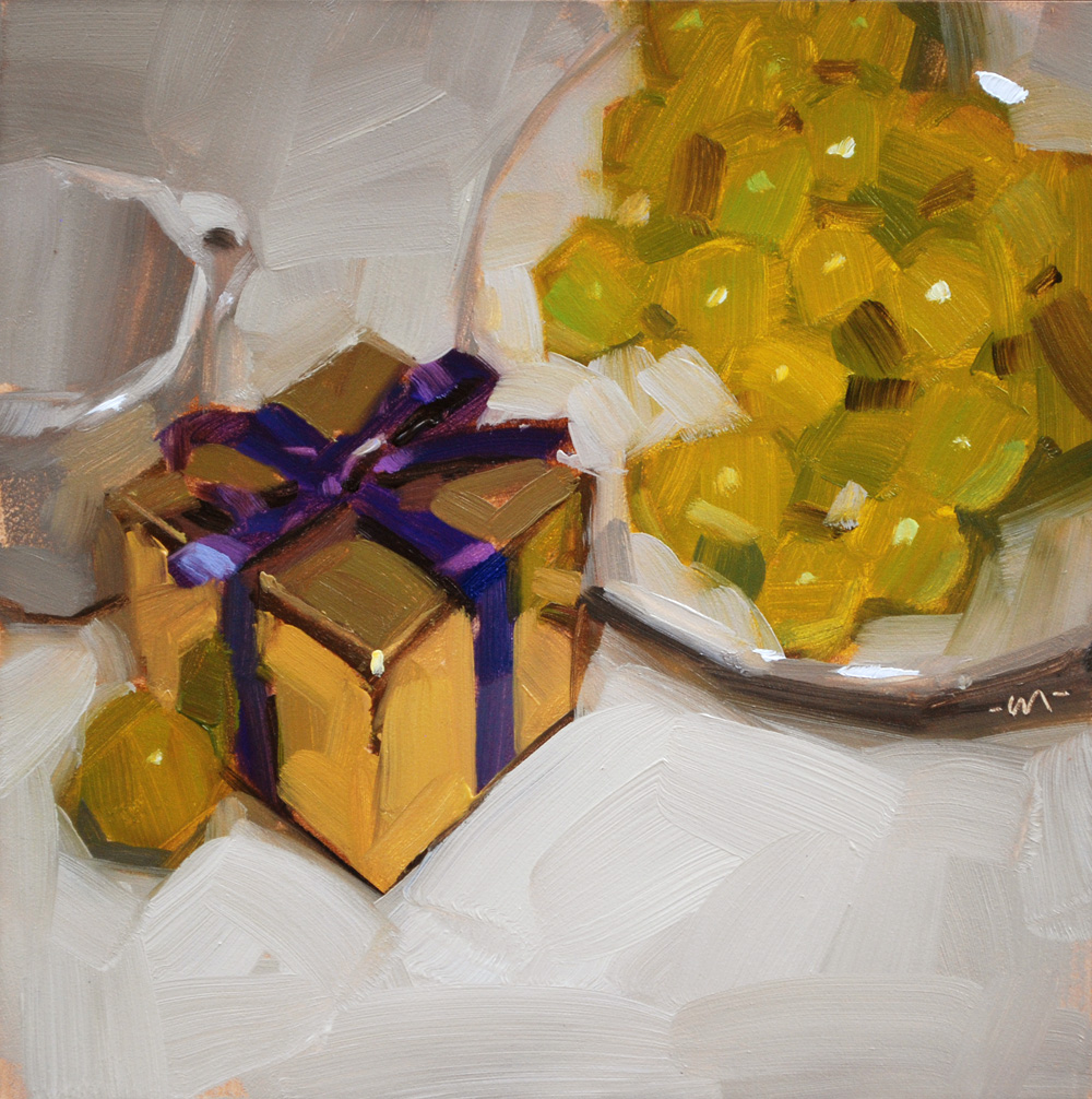 """Gift & Grapes"" original fine art by Carol Marine"
