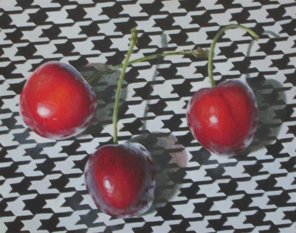"""Cherry Bomb"" original fine art by Debbie Shirley"