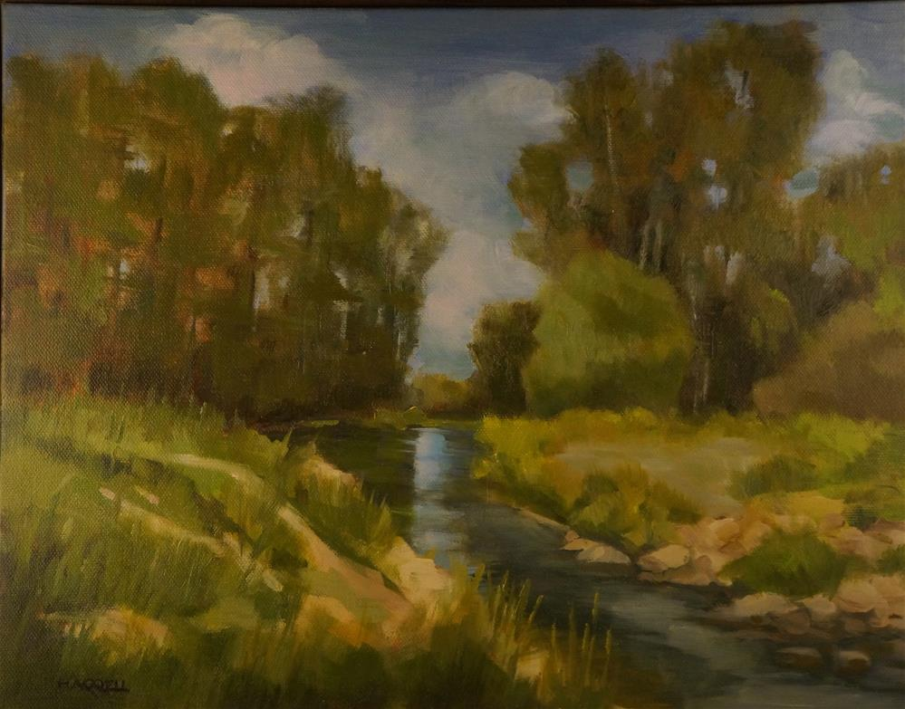 """Clear Lake Creek"" original fine art by Sue Harrell"