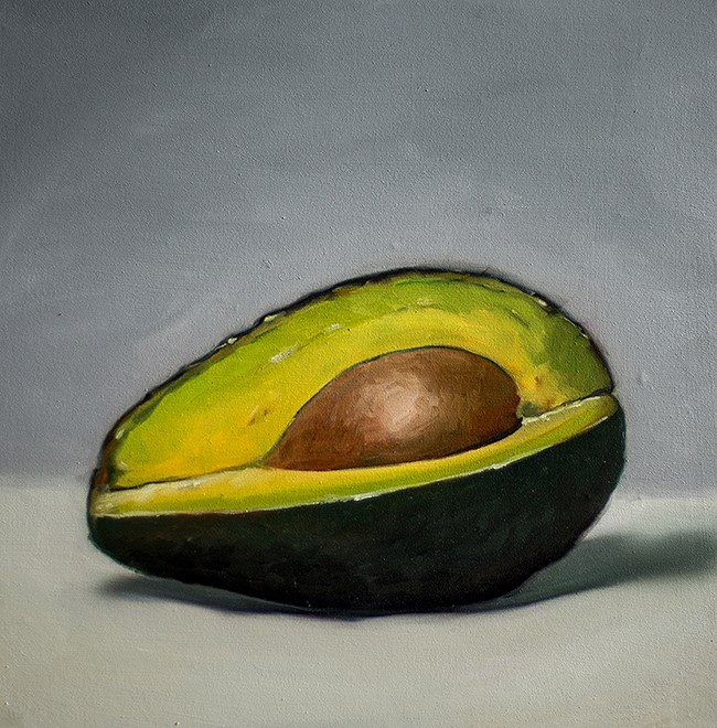 """Sliced Avocado"" original fine art by Lauren Pretorius"
