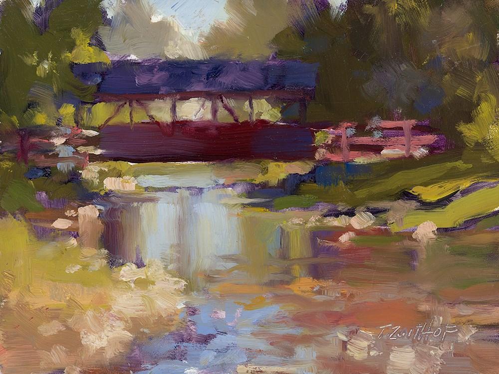 """""""Bridge 6x8"""" original fine art by Todd Zuithof"""